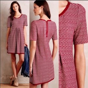 Anthro Maeve Dora Chiffon Pattern Shift Dress SZ S